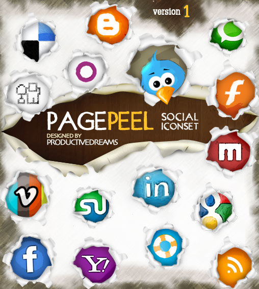 Pagereal Social Media Iconset