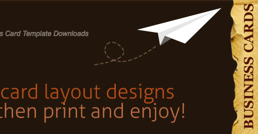 free-business-card-templates paper plane