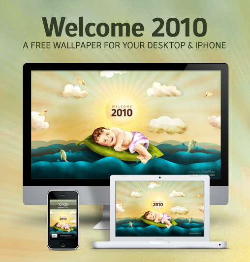 Welcome 2010 Free Wallpaper