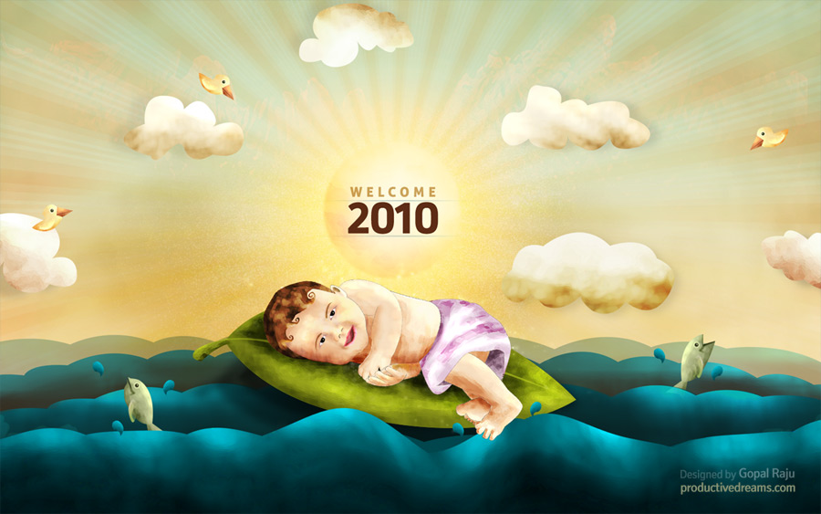 Welcome 2010 – A Free Wallpaper For Your Desktop & Iphone