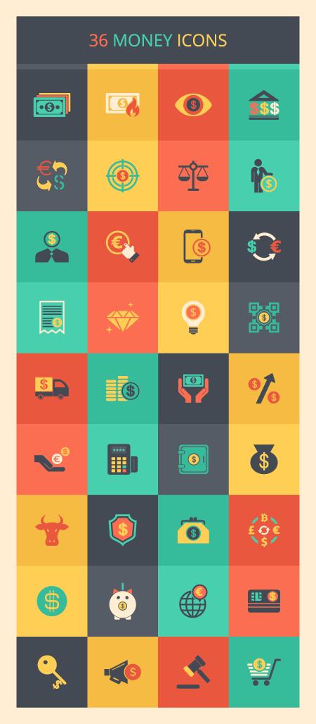 money-icon-set