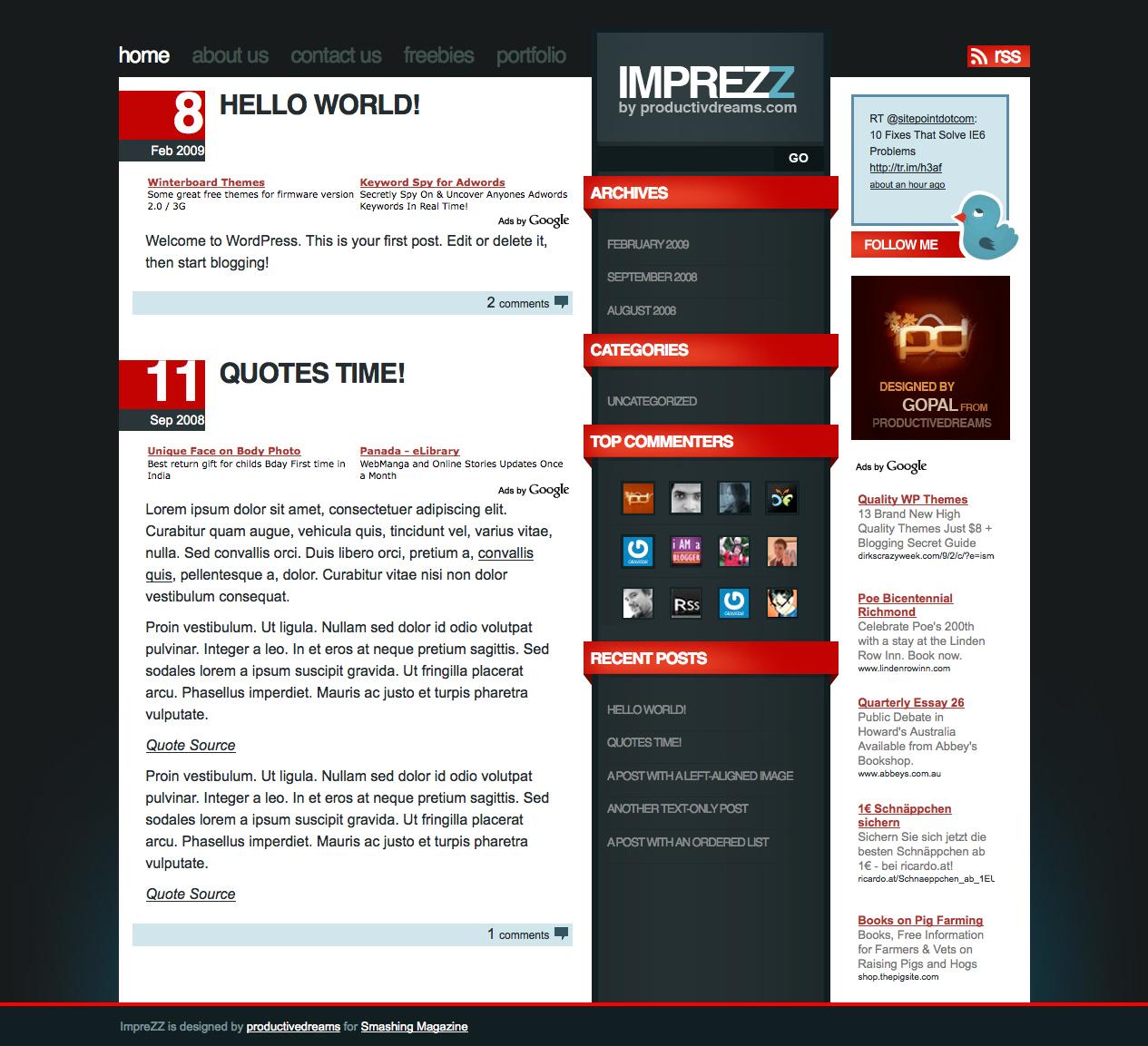 70 Themes (temas) gratuitos de alta calidad para WordPress - Trazos Web